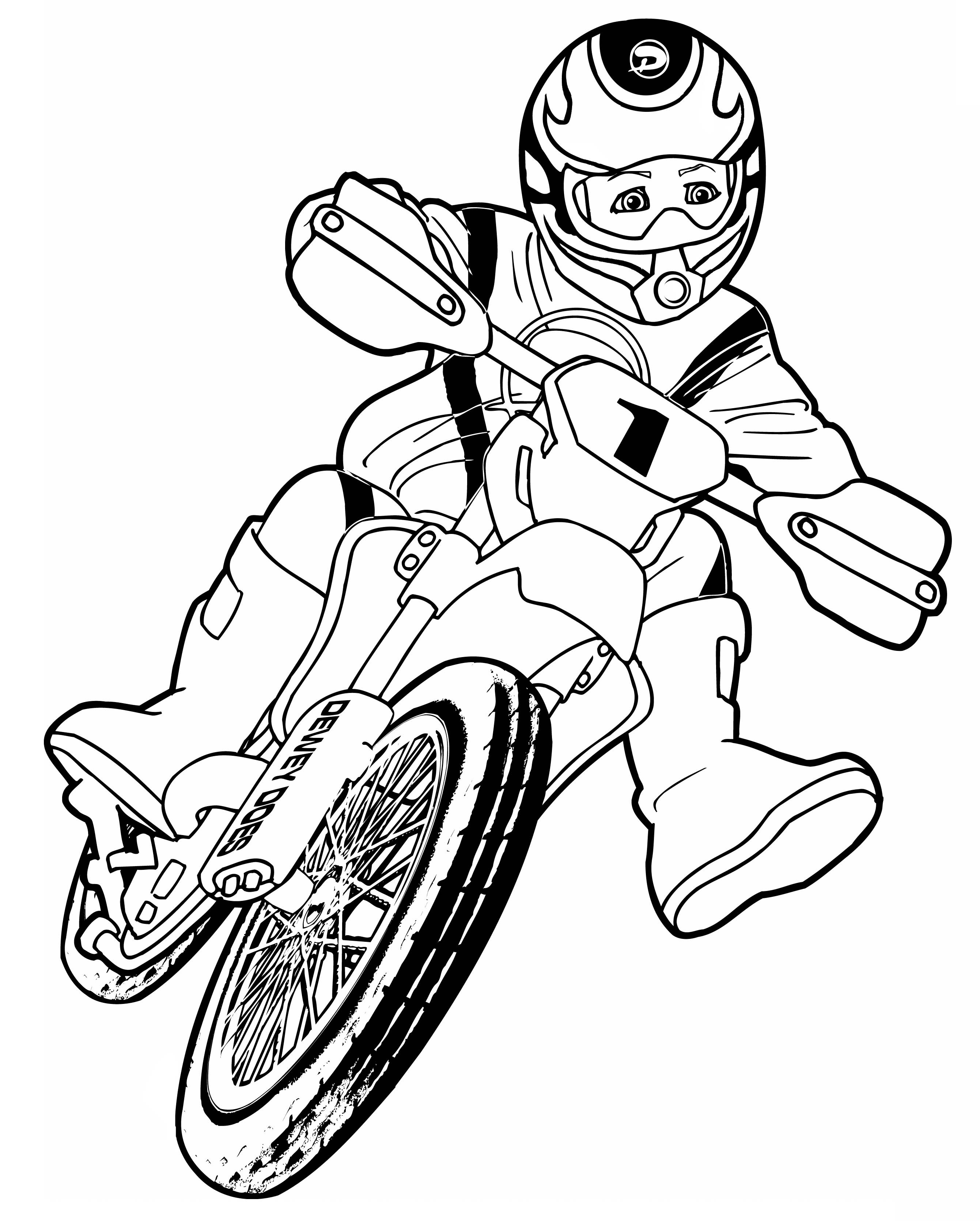 Motocross Ausmalbilder  Malvorlagen fur kinder Ausmalbilder Motocross kostenlos