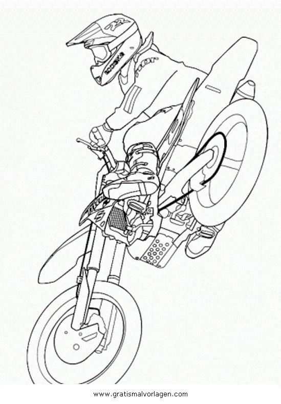 Motocross Ausmalbilder  motorcross 7 gratis Malvorlage in Motorrad