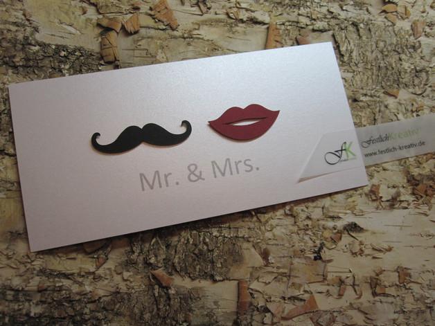Mr & Mrs Hochzeit  Einladungskarten Einladungskarten zur Hochzeit Mr