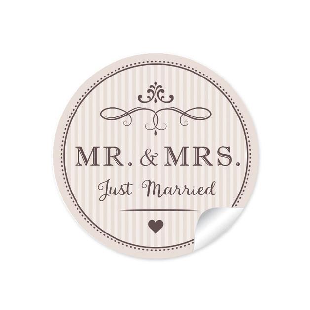 Mr & Mrs Hochzeit  Etiketten Geschenkaufkleber Hochzeit Mr & Mrs ein