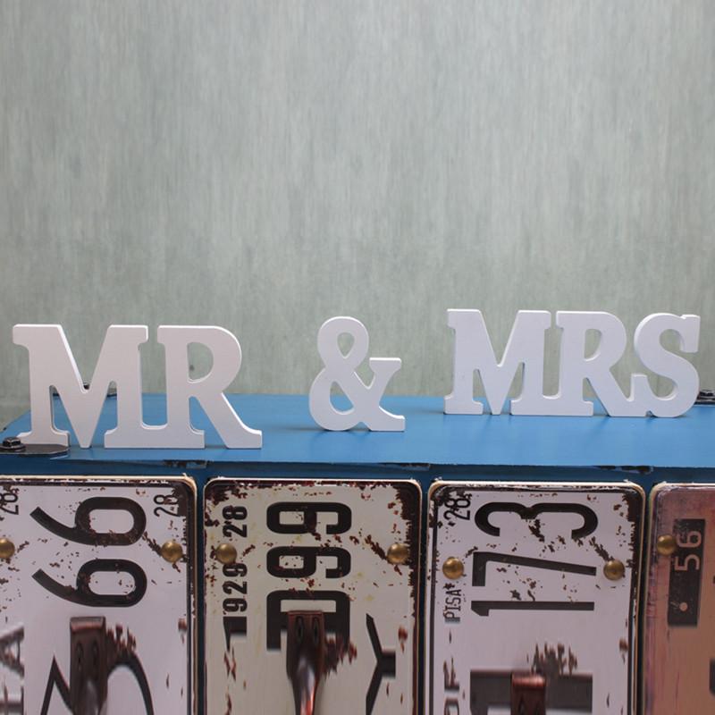 Mr & Mrs Hochzeit  MR & MRS Aufsteller Tischdekoration Hochzeitstisch