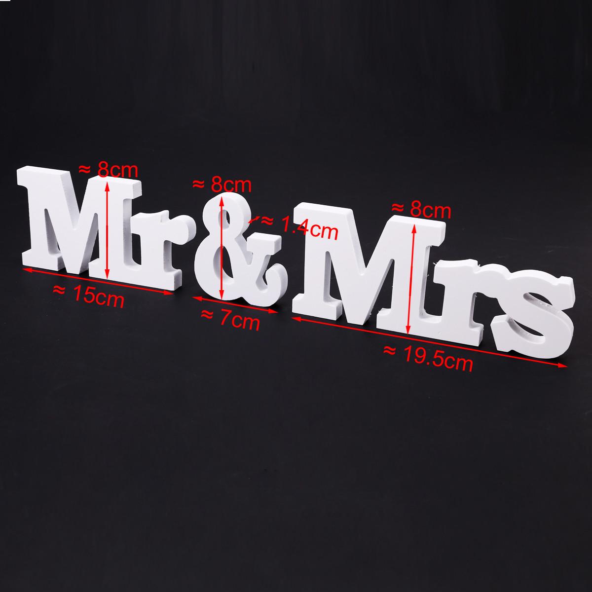 Mr & Mrs Hochzeit  Mr & Mrs Buchstaben Schriftzug Schild Hochzeit Party