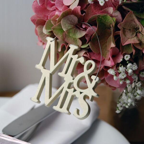 """Mr & Mrs Hochzeit  Schriftzug aus Holz """"Mr & Mrs"""" Hochzeitsdeko weddix"""