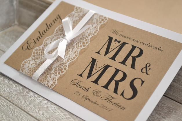 Mr & Mrs Hochzeit  Einladungskarten Einladungskarten zur Hochzeit Mr & Mrs