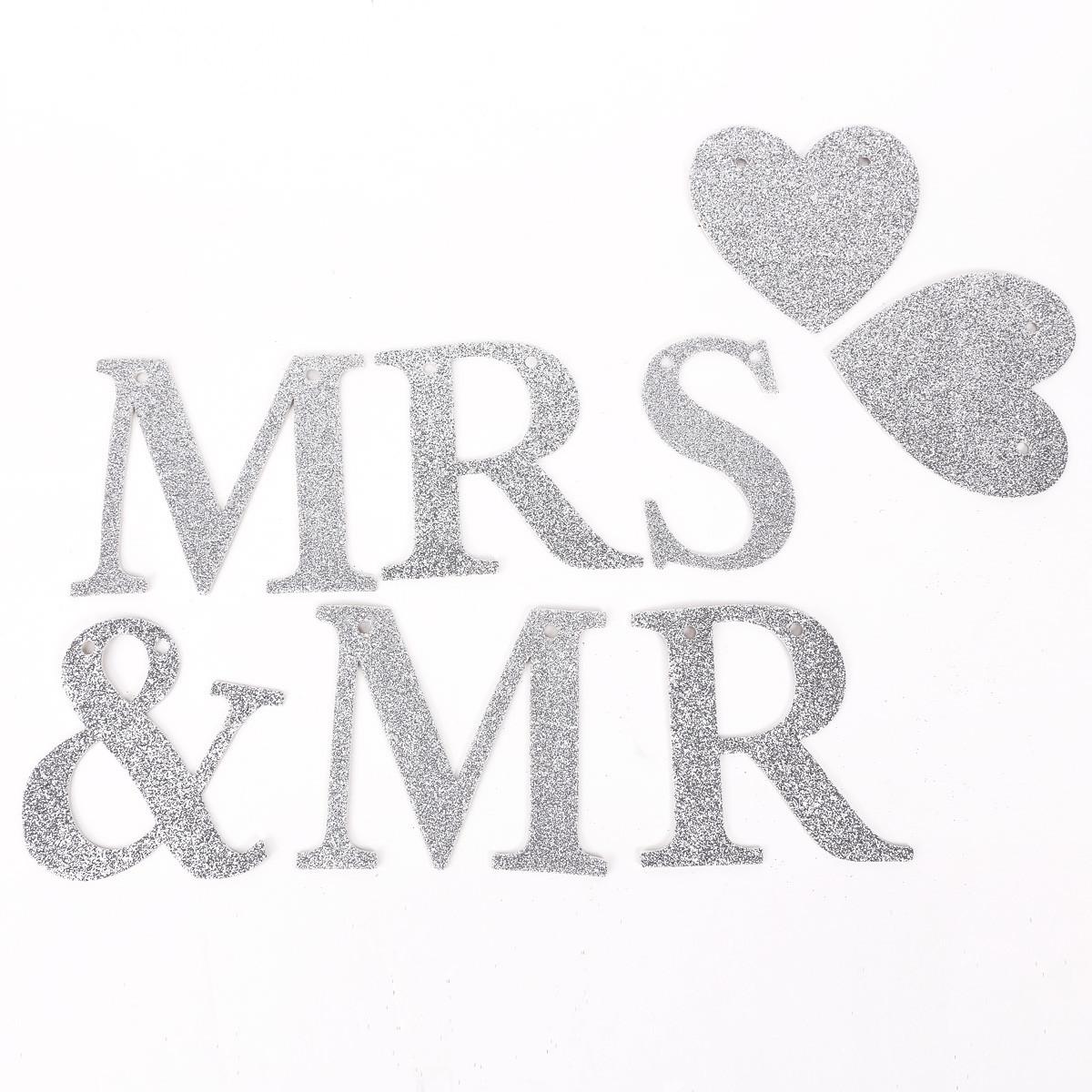 Mr & Mrs Hochzeit  Mr & Mrs HOCHZEIT PARTY DEKO GIRLANDE Hochzeitsgirlande