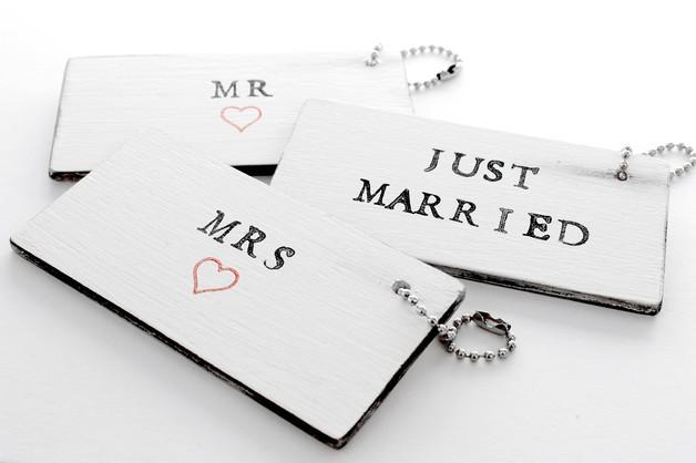 Mr & Mrs Hochzeit  Accessoires Kofferanhänger MR & MRS Hochzeit ein