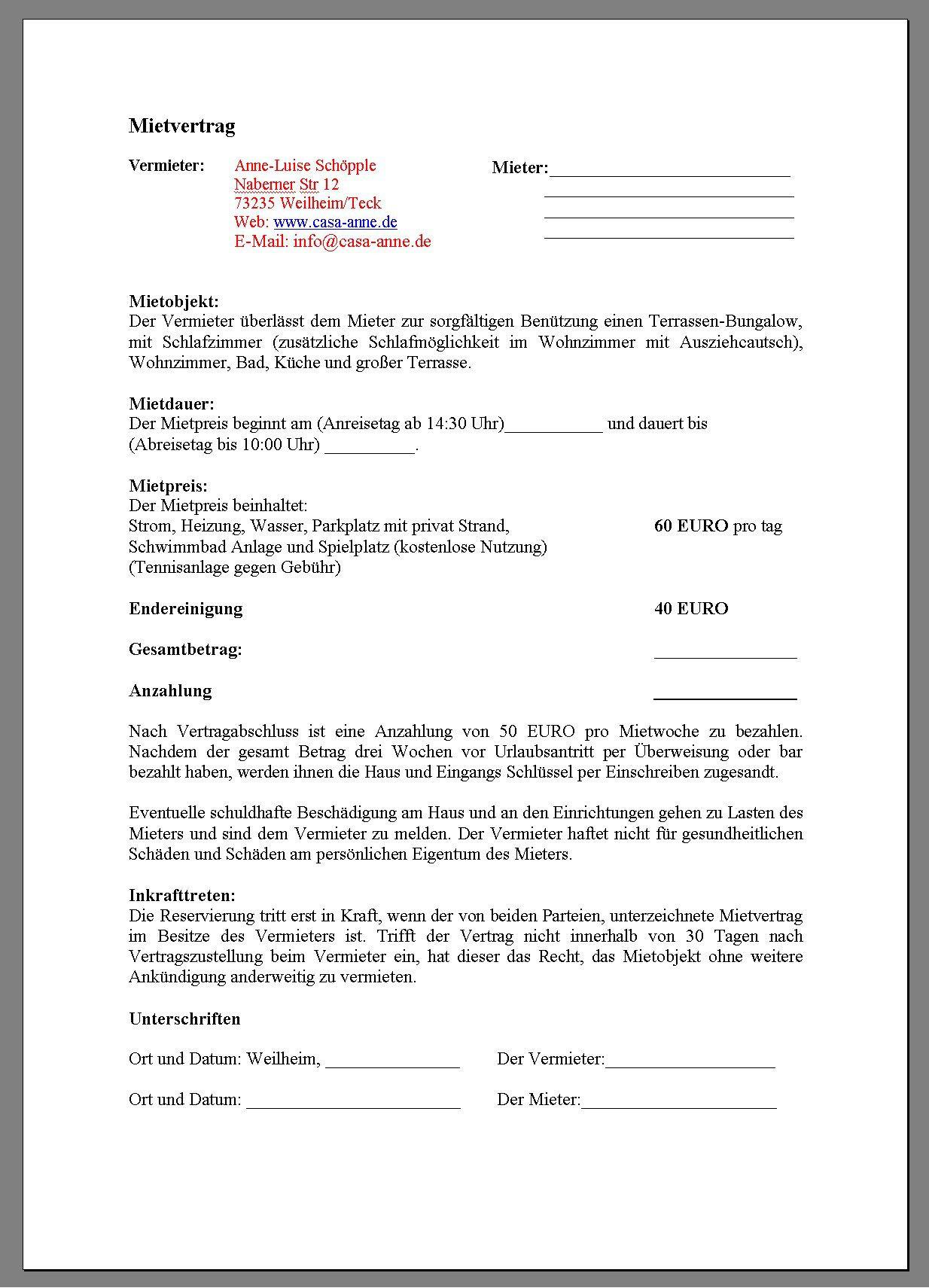 Muster Kündigung Wohnung  kündigung mietvertrag vorlage vermieter