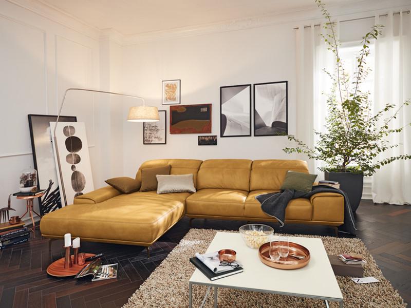 Musterring Sofa  Musterring Garnitur MR 2490 2 Sitzer mit Longchair 2