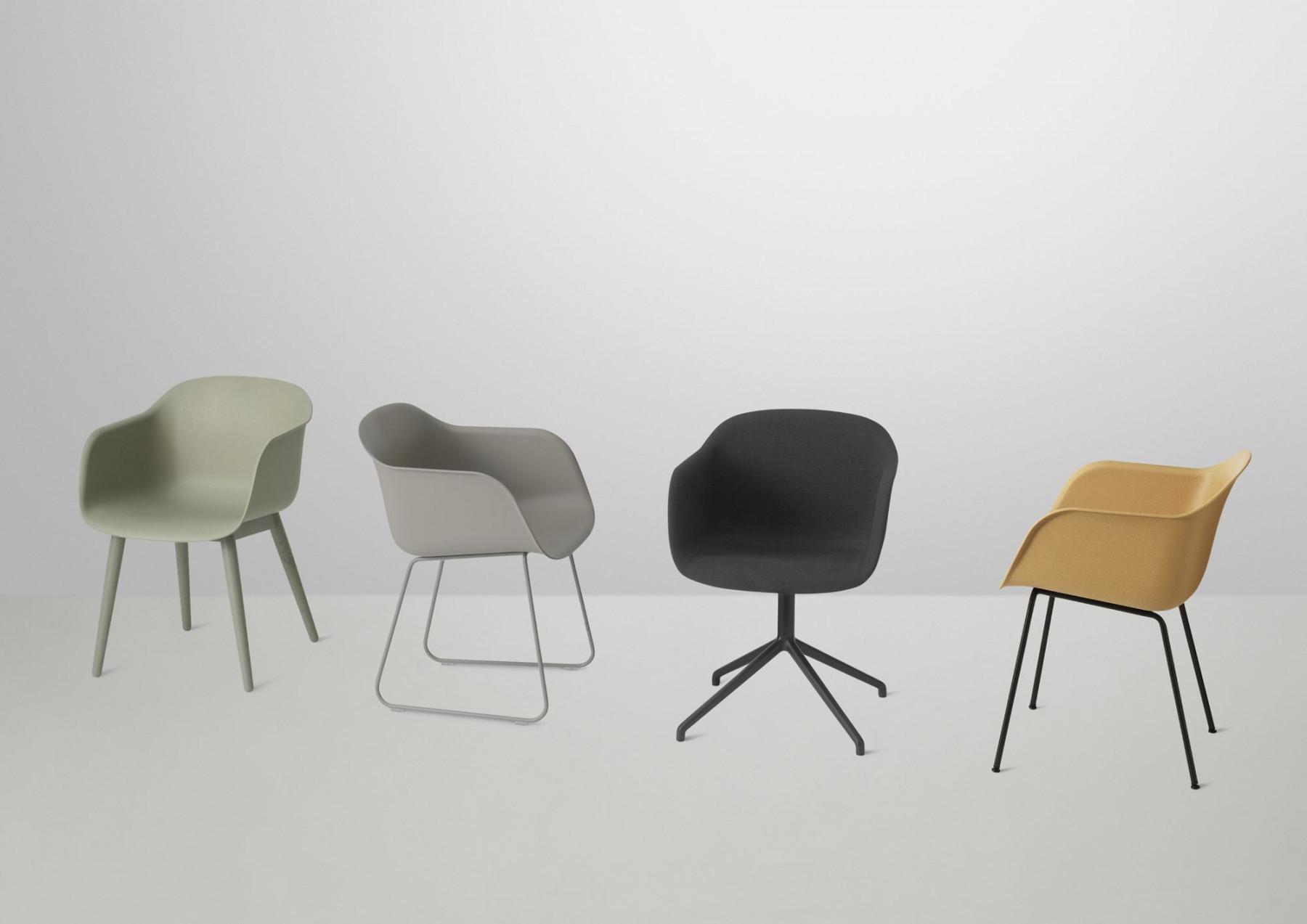 Muuto Stuhl  Fiber Chair Tube Base Stuhl Muuto einrichten design