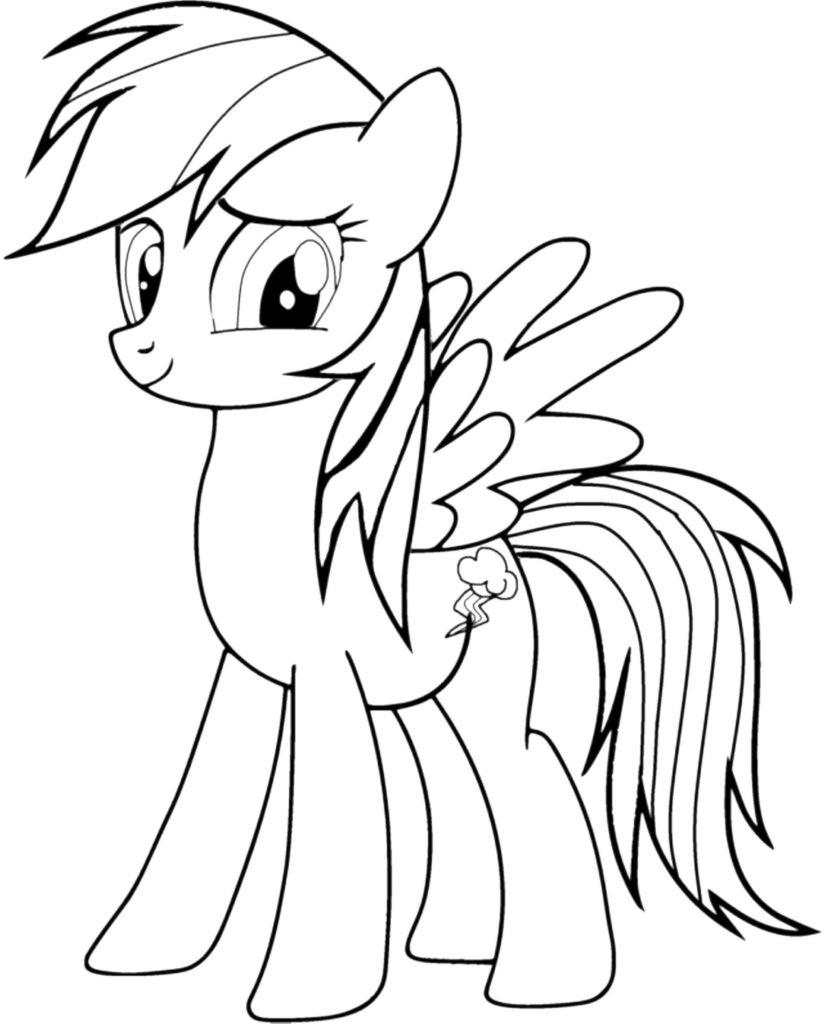 beste 20 my little pony rainbow dash ausmalbilder  beste