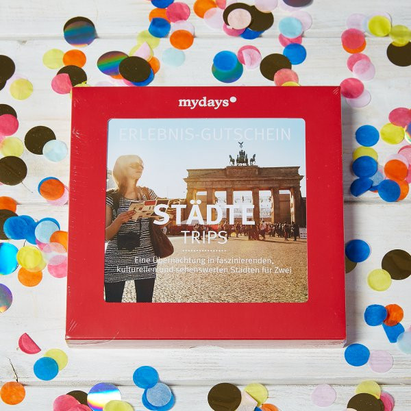 Mydays Geschenke  mydays mydays mydays Magic Box Städtetrips online