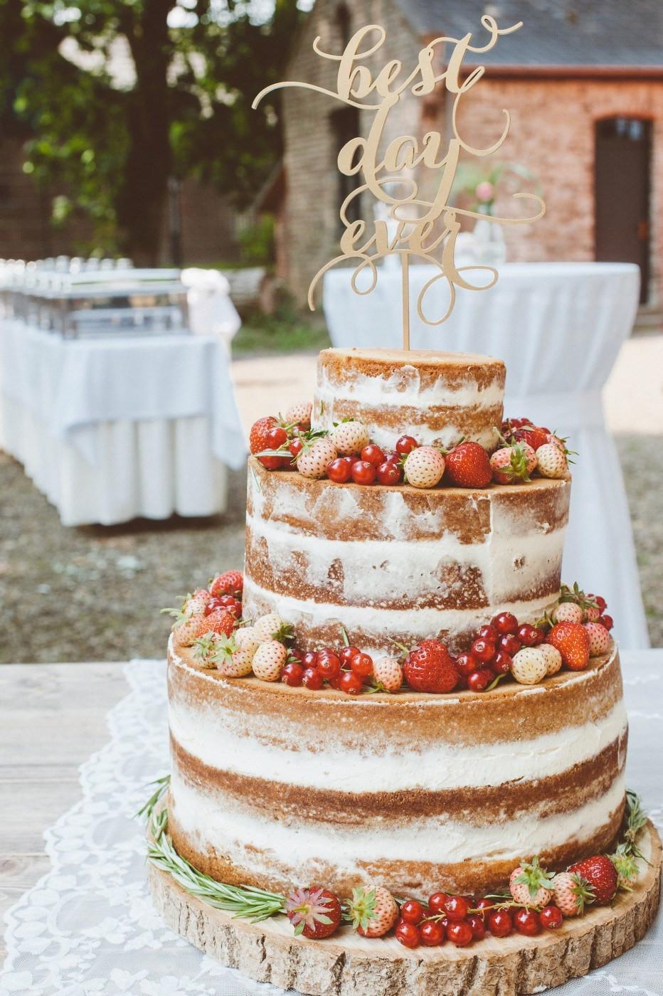 Naked Cake Hochzeitstorte  Very Berry Wedding Cake Rezept Hochzeitstorte Rezept