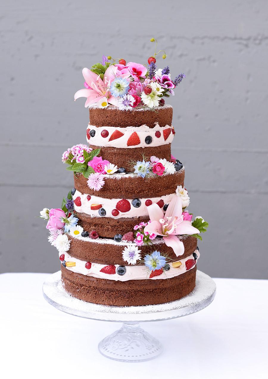 Naked Cake Hochzeitstorte  Schöne cakes für Hochzeit