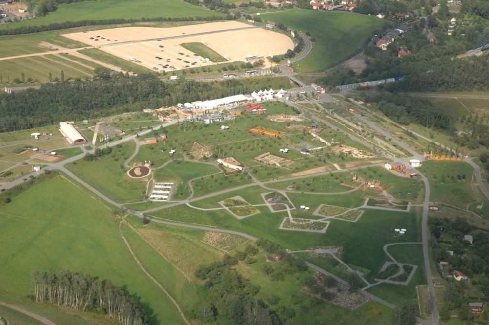 Neue Landschaft Ronneburg  Luftaufnahme Ronneburg BUGA Gelände Neue Landschaft