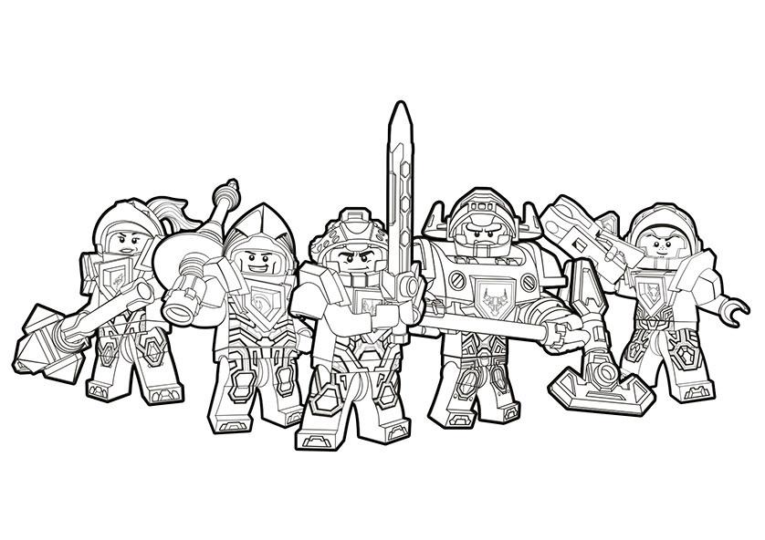 Nexo Knight Ausmalbilder  Nexo Knights 20