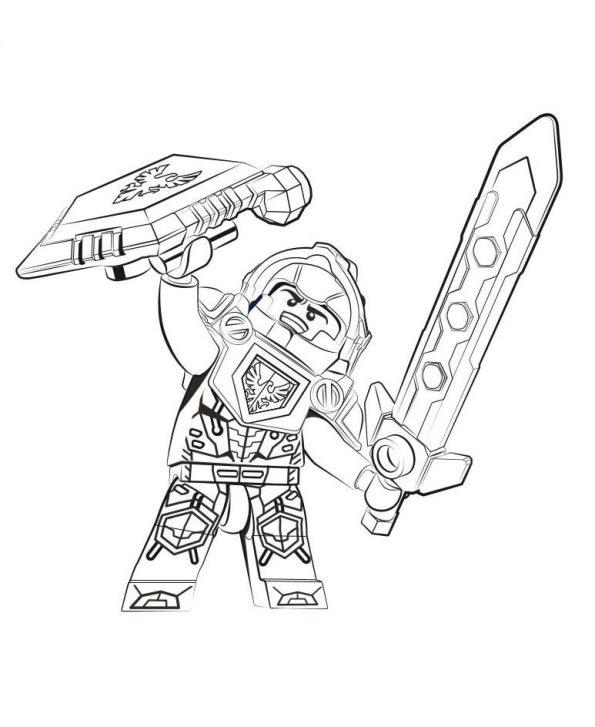 Nexo Knight Ausmalbilder  Kids n fun