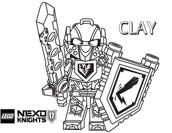 Nexo Knight Ausmalbilder  Nexo Knights Clay Ausmalbilder Lego 01