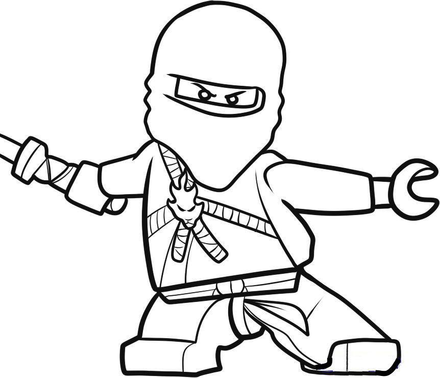 Ninja Ausmalbilder  Kids n fun