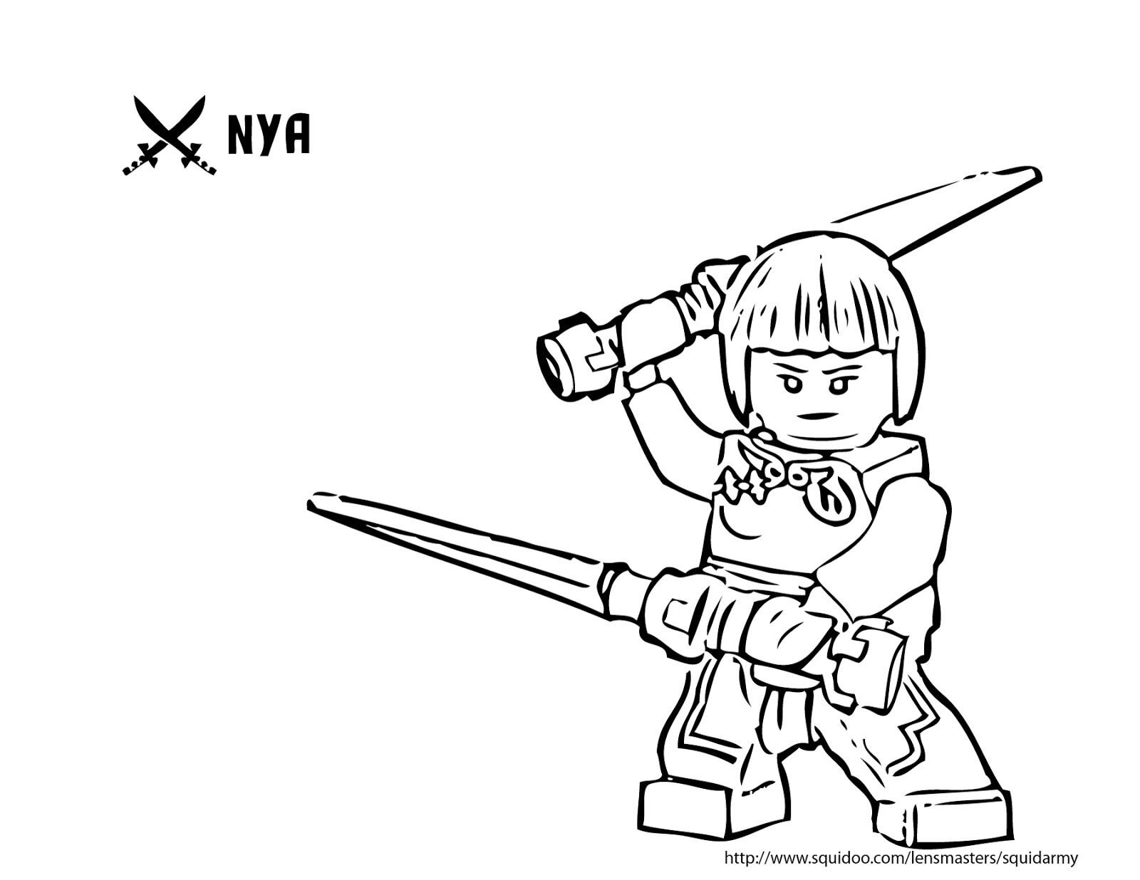 die besten ideen für ninjago ausmalbilder nya - beste