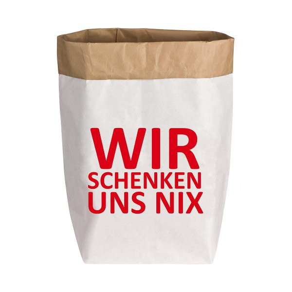 Nix Geschenke  17 30 Paperbag Wir schenken uns nichts M online kaufen