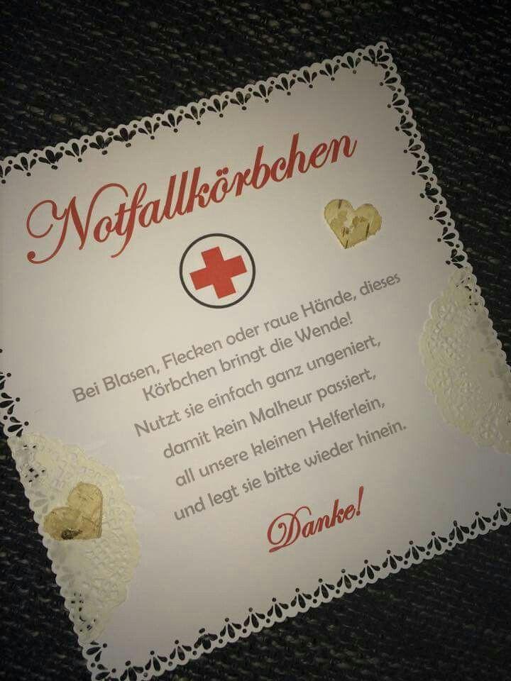 Notfallkörbchen Hochzeit Spruch  Text notfallkorb Hochzeits Kram