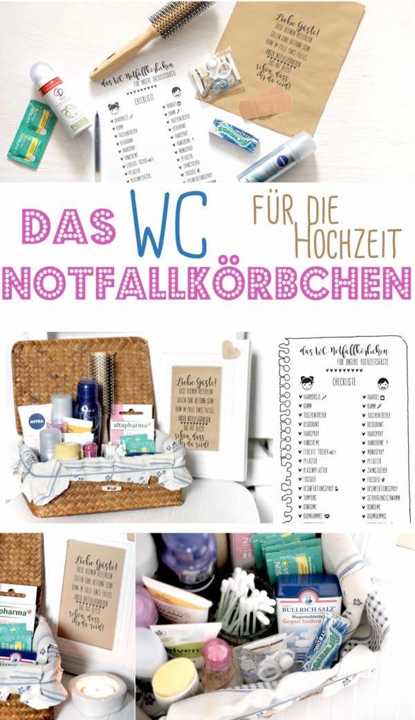 Notfallkörbchen Hochzeit Text  Liste Notfallkörbchen für Hochzeitsgäste HANDMADE Kultur