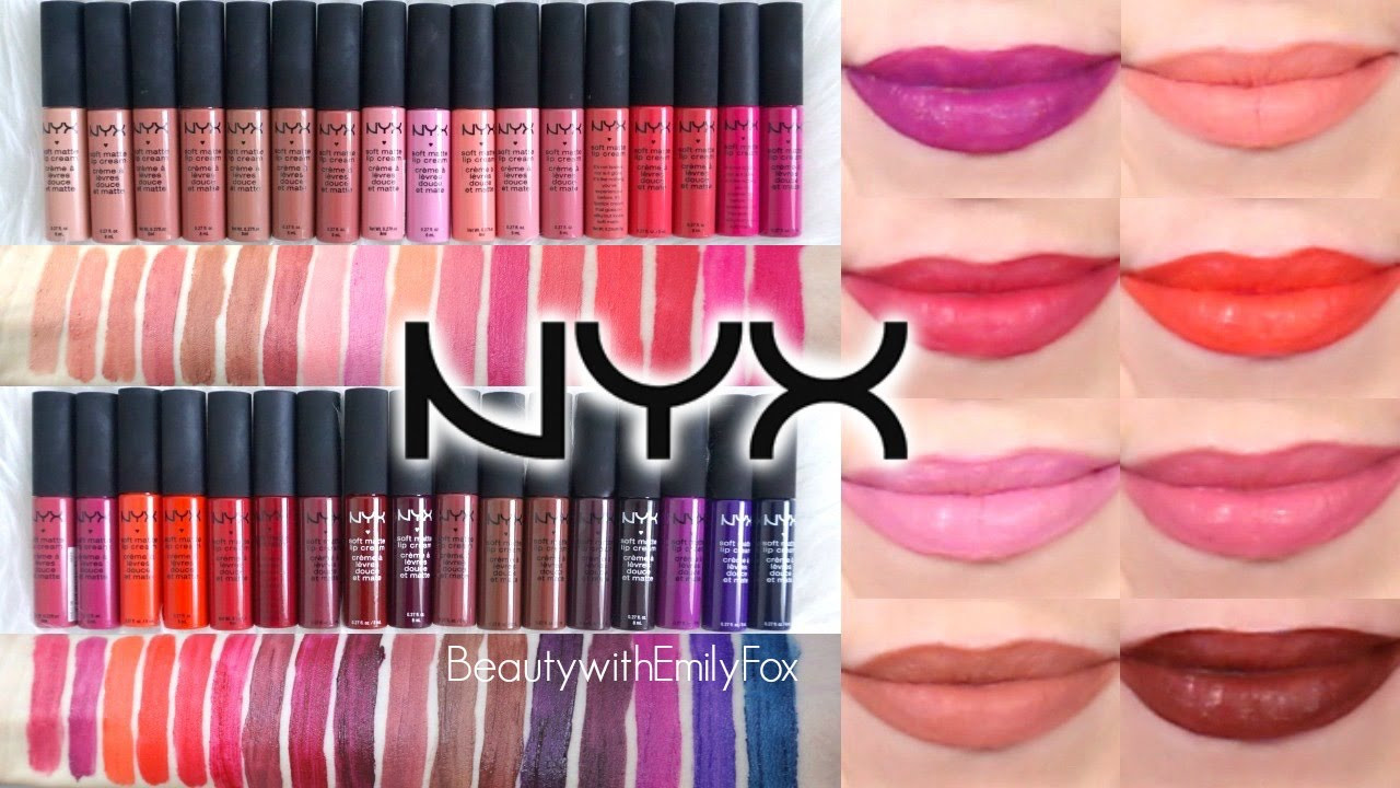 Nyx Soft Matte Lip Cream Swatches  NYX Soft Matte Lip Cream Lip Swatches ALL SHADES