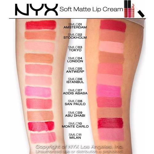 Nyx Soft Matte Lip Cream Swatches  NYX Soft Matte Lip Cream