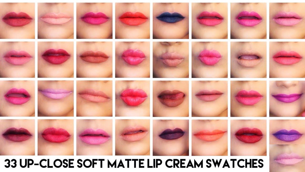 Nyx Soft Matte Lip Cream Swatches  UP CLOSE NYX SOFT MATTE LIP CREAM LIP SWATCHES