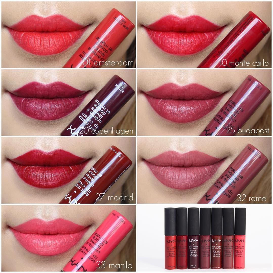 "Nyx Soft Matte Lip Cream Swatches  "" nyxcosmetics Soft Matte Lip Cream nyxcosmetics"