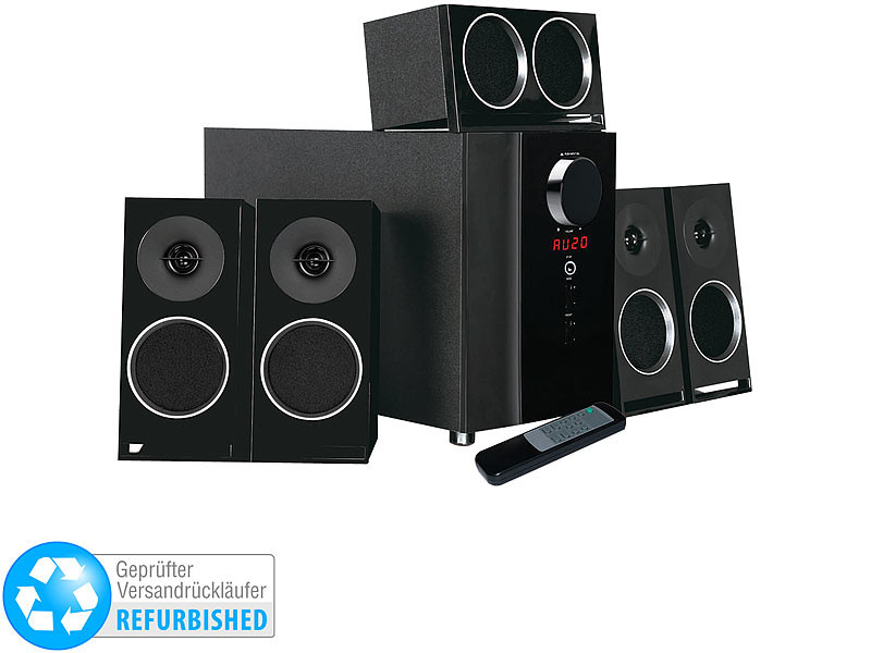 Optischer Eingang  auvisio PCM 5 1 Surround Soundsystem optischer Audio