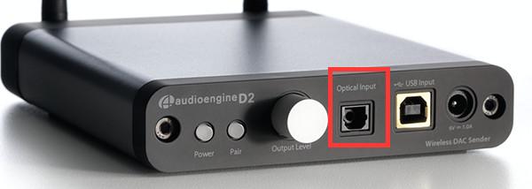 Optischer Eingang  Mit Chromecast Audio kompatible Boxen und Kabel