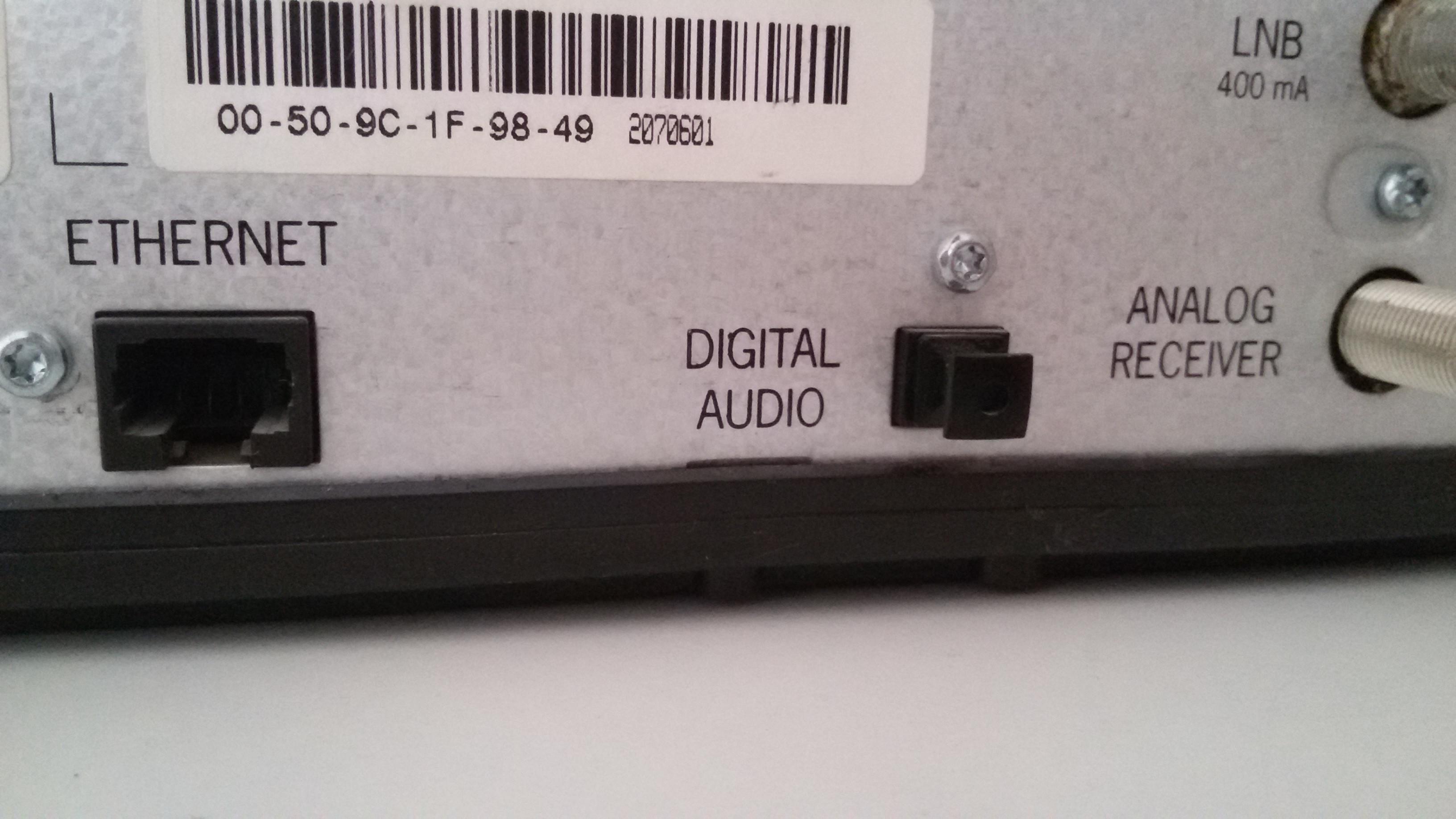 Optischer Eingang  Digital Audio und Optischer eingang Technik Anschluss