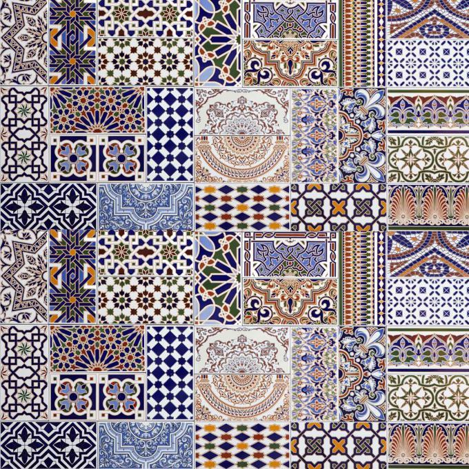Orientalische Fliesen  Marokkanische patchwork Fliesen Bunt