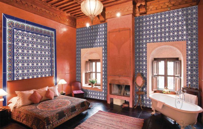 Orientalische Fliesen  Boden und Wandfliesen Oriental Granada Base 14x28 cm