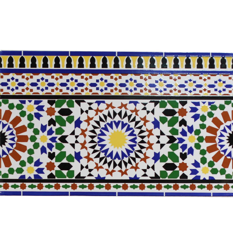 Orientalische Fliesen  Orientalische Wand Fliesen Bordüre Alhamra