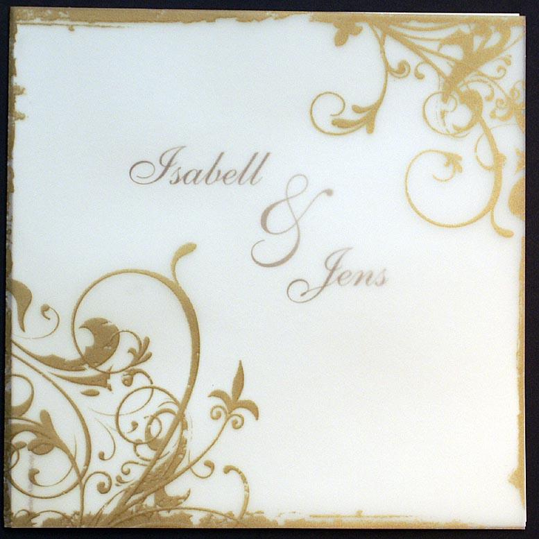 Ornamente Hochzeit  Einladungskarte pr goldene Hochzeit Ornamente