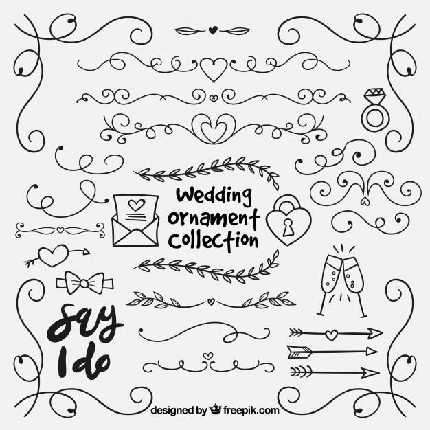Ornamente Hochzeit  Ornamente Ecken Vektoren Fotos und PSD Dateien