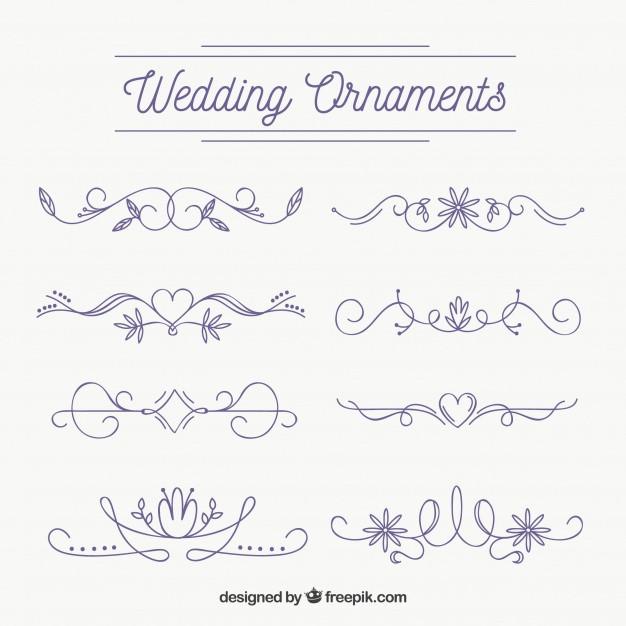 Ornamente Hochzeit  Hochzeit ornamente sammlung zu dekorieren