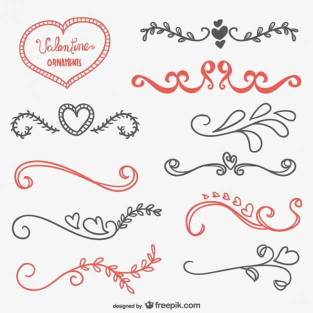Ornamente Hochzeit  Valentine kalli Ornamente
