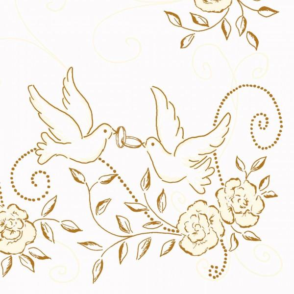Ornamente Hochzeit  50 Airlaid Hochzeitservietten 40x40 cm DESIGN HOCHZEIT
