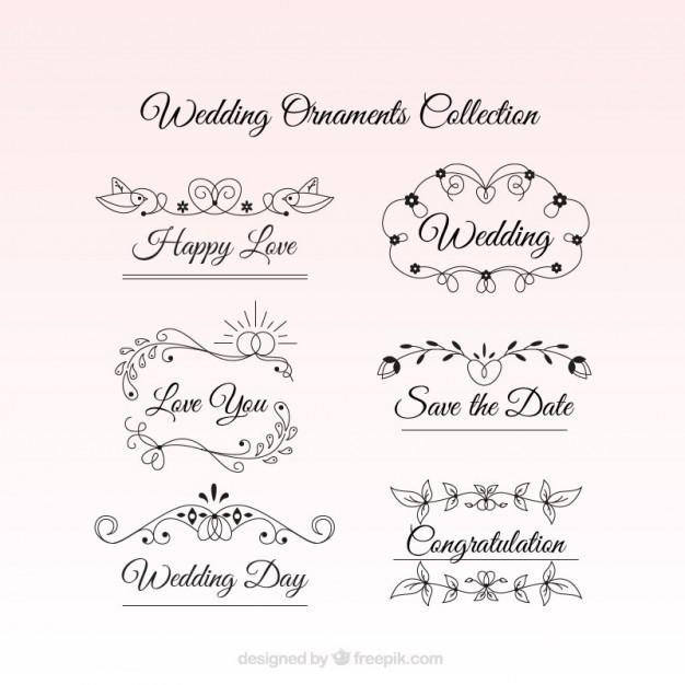 Ornamente Vorlagen Kostenlos Hochzeit  Hochzeit Ornamente mit einer emotionalen Text