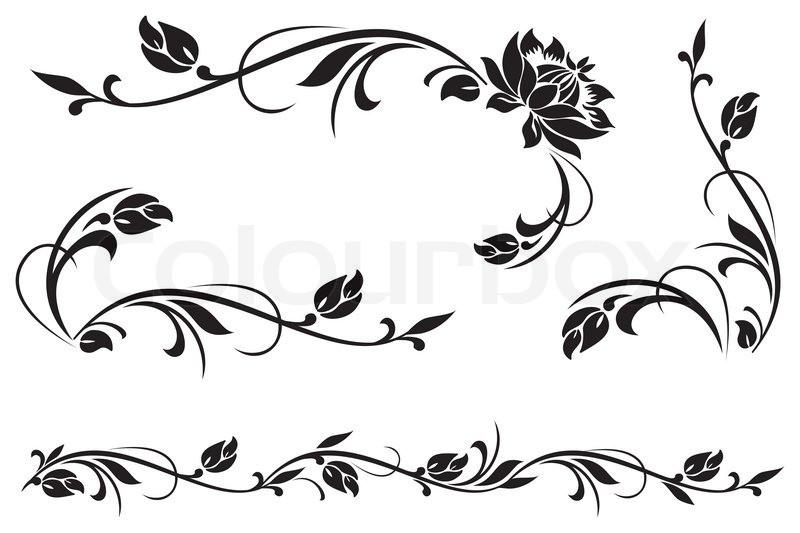 Ornamente Vorlagen Kostenlos Hochzeit  Vektor Design Elemente für floral