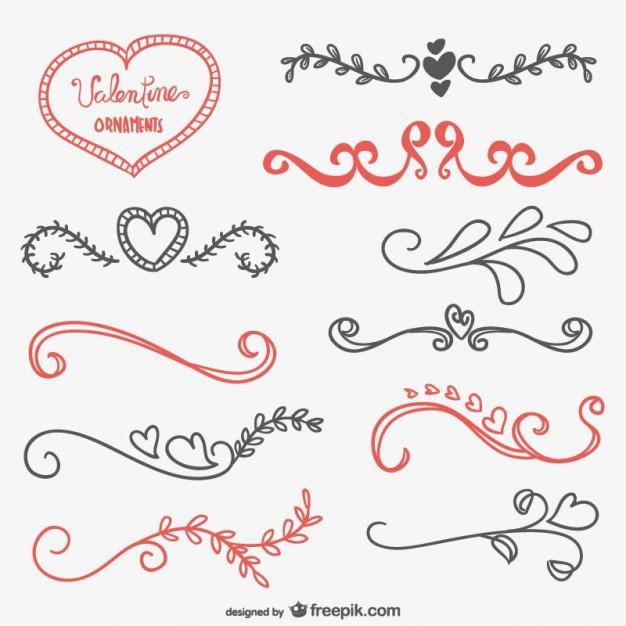 Ornamente Vorlagen Kostenlos Hochzeit  Valentine kalli Ornamente