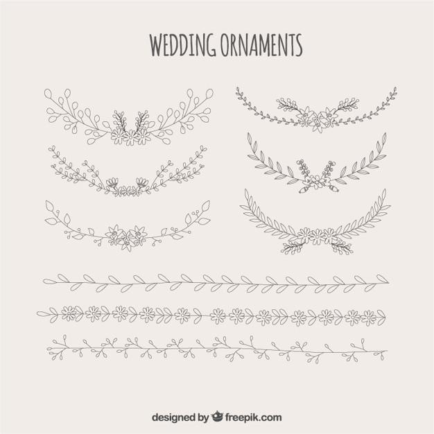 Ornamente Vorlagen Kostenlos Hochzeit  Hochzeit Ornamente aus Blumen