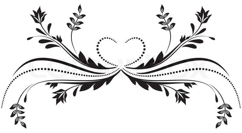 Ornamente Vorlagen Kostenlos Hochzeit  Decorative ornament Vektorgrafik