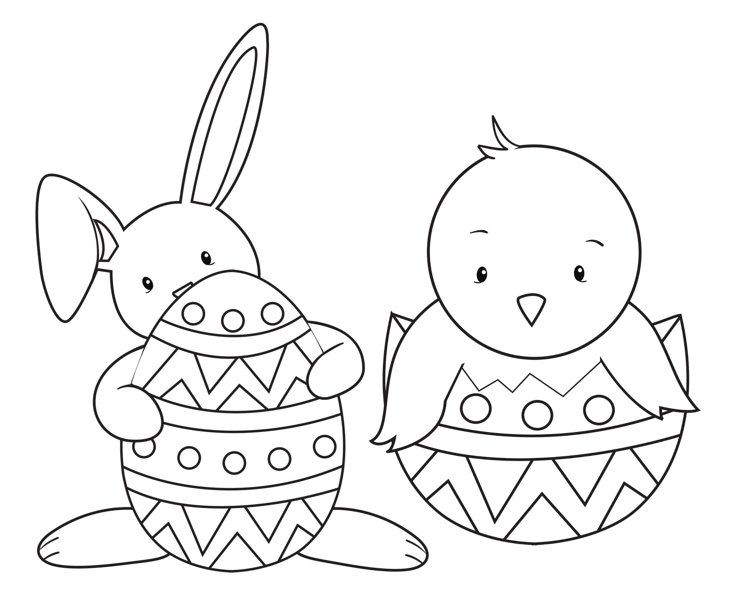 Oster Ausmalbilder  malvorlagen ostern kleinkinder