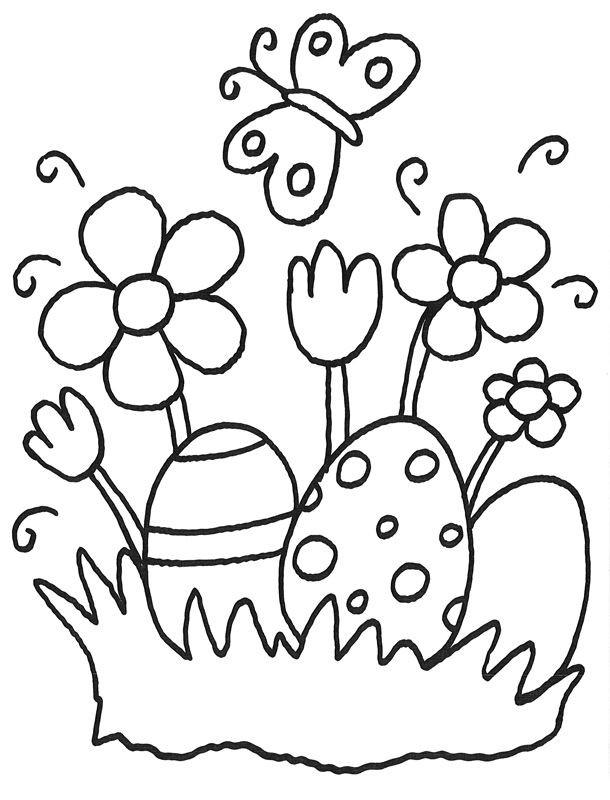 Oster Ausmalbilder  Malvorlage ostereier und Ostern