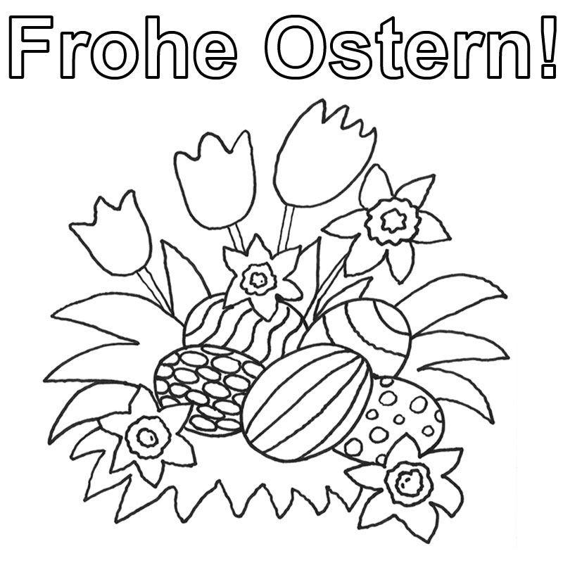 Oster Ausmalbilder  OSTERN BILDER ZUM AUSMALEN ostern Pinterest