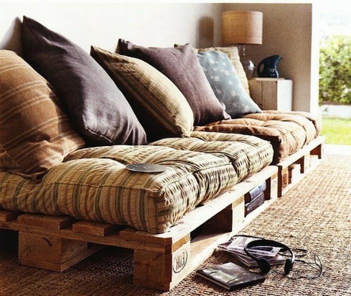 Paletten Sofa Kissen  50 coole Modelle Sofa aus Europaletten